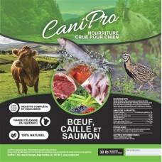 Beef, quail & salmon 30 lbs