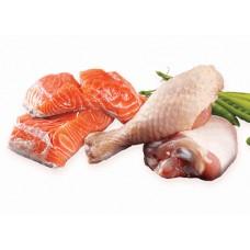 Poulet & saumon saucisson 5 lb