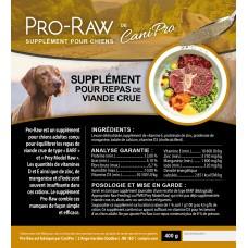 Pro-Raw (chiens) vitamines et minéraux